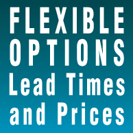 Flexible options, lead times and prices